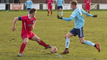 Jack Chandler was the late hero as Godmanchester Rovers beat Clacton.. Picture: J BIGGS PHOTOGRAPHY