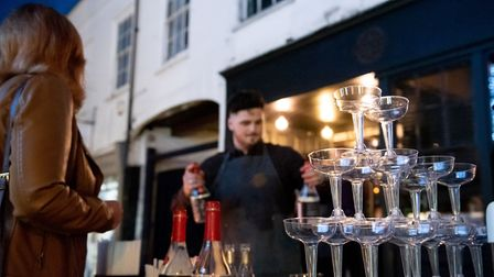 St Albans George Street Gin and Jazz event. There were eight bars. Picture: Stephanie Belton