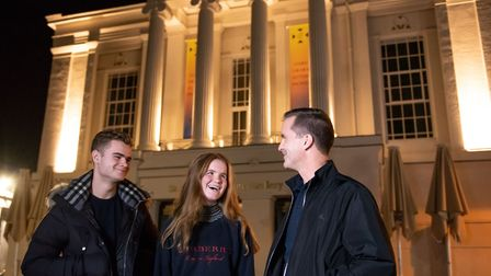 St Albans George Street Gin and Jazz event. Visitors outside St Albans Museum + Gallery. Picture: