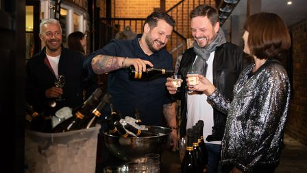 St Albans George Street Gin and Jazz event. Patrons enjoying the party. Picture: Stephanie Belton