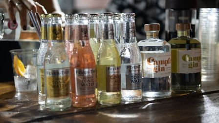 St Albans George Street Gin and Jazz event. A variety of gin was on offer. Picture: Stephanie Belton