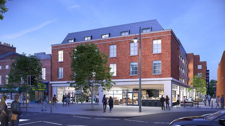 The St Peter's Street view of the 130-bed hotel Reef Estates wants to build on the British Home Stor