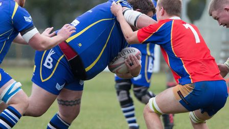 Josh Dear scored a consolation try for St Ives in their defeat at Market Bosworth. Picture: PAUL COX