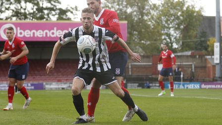 George Bailey went close to grabbing a late consolation for St Ives Town at York City. Picture: LOUI
