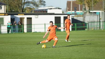 Action from St Ives Town's trip to Rushall Olympic. Picture: LOUISE THOMPSON