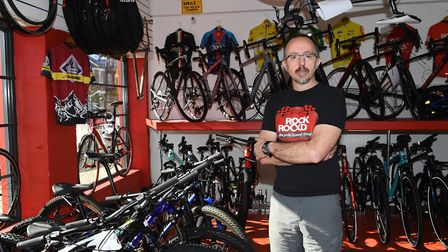 Rock and Road Bikes owner Paul Williams is warning others about a bailiff fraud scam which preys on