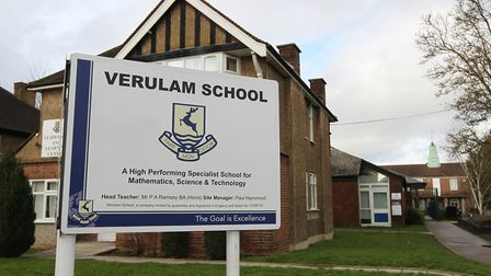 Verulam School has improved its Ofsted rating to 'good'. Photo: Danny Loo.