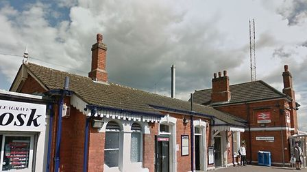 Leagrave station, near to where the person was hit by a train yesterday. Picture: Google.