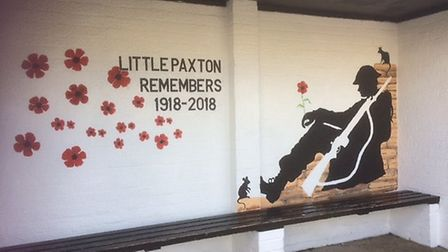L-R Little Paxton memorial sent in for this years special edition paper.