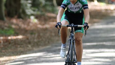 Welwyn Wheelers' Ellen Bennett in action at the Assen Youth Cycling Tour.