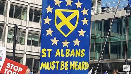 St Albans and Harpenden Remainers took part in the People's Vote march in London at the weekend.