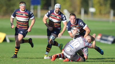 Old Albanian V Taunton - Tobias Mundy in action for Old Albanian.Picture: Karyn Haddon