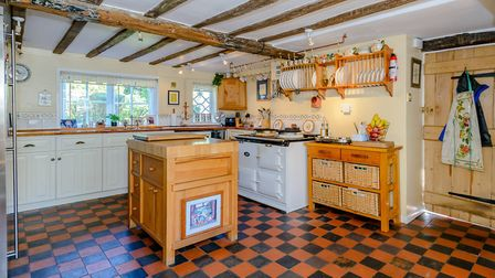 The kitchen/breakfast room is packed with character. Picture: Strutt & Parker