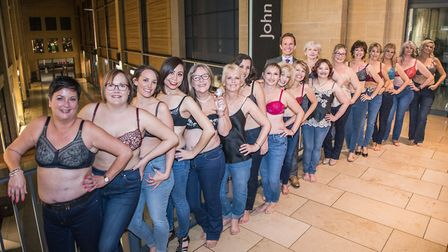All these women have recieved treatment for breast cancer at Addenbrookes Hospital. An after show gr