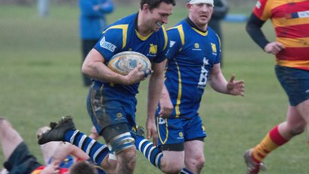 Captain Ollie Bartlett (left) and Mickey Drake both scored tries as St Ives beat Biggleswade to seal