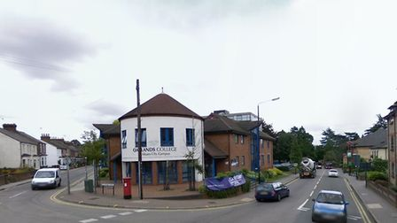 The Oaklands College building on the corner of St Peter's and Hatfield Roads as it looked in August