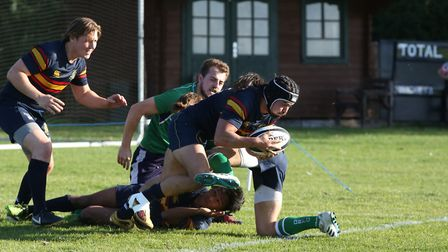 Tabard's Mark Salteras bagged a try in the victory over Cheshunt. Picture: DANNY LOO