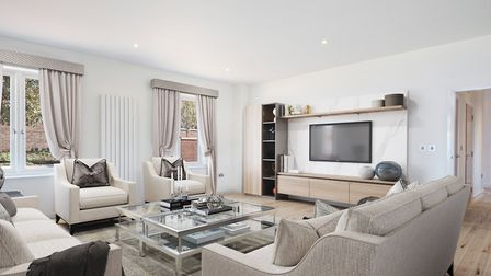 CGI of a sitting room at the Welcombe House collection in Harpenden. Picture: Fiarview New Homes