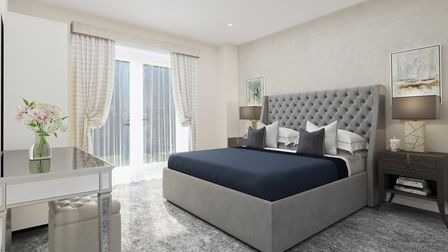 CGI of a bedroom at the Welcombe House collection in Harpenden. Picture: Fairview New Homes