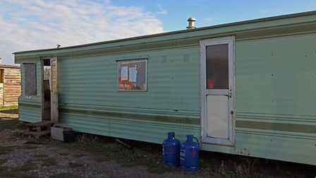 The static home that is being billed for water use despite not being hooked up to a supply.
