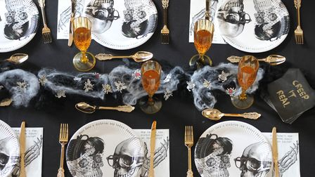 Conjure up a blood-curdling banquet: Talking Tables Skeleton Crew range includes: Paper Plates Pack