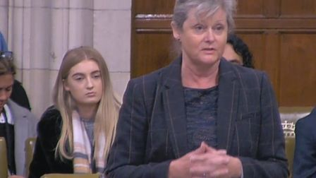 St Albans MP Anne Main at the Westminster Hall debate on Wednesday. Picture: House of Commons.