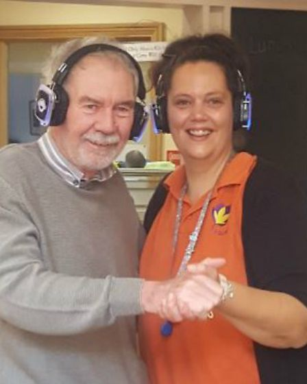 Staff and residents at the Margaret House silent disco. Picture: Margaret House