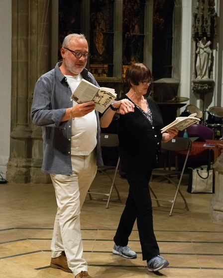Oh! What a Lovely War rehearsals in Huntingdon. Picture: CONTRIBUTED