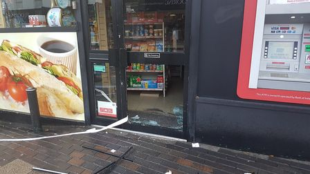 The post office on London Road in St Albans was broken into last night.
