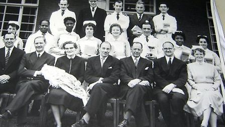Ernst-Wilhelm Peters - who is known as Peter and is pictured third from right in the middle row - t
