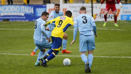 Khale Da Costa dances his way through the Slough defence. Picture: LEIGH PAGE