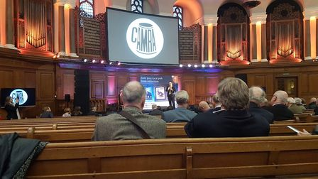 """""""The business rates discount could be a life-saver"""": Dudley South MP Mike Wood speaking at the CAMRA"""
