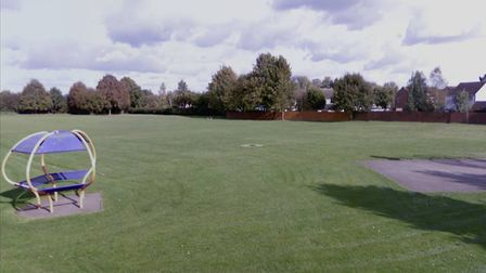 The playing field in Little Paxton