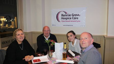 The salmon dish launch event at St Albans' Chilli Bar and Restaurant, in aid of Rennie Grove Hospice