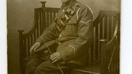 Jim Elmore, who joined the Bedfordshire regiment in 1916 and was injured. He survived the war but ne