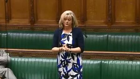 St Albans MP Anne Main speaking in the House of Commons. Picture: Parliament.tv