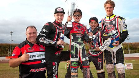 Smallford's Freddie Fox-Baron finished second in the British Young Lions 125xx National Speedway Cha