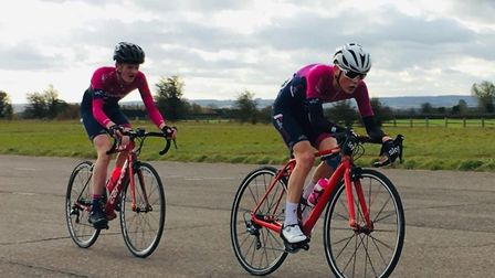 Verulam Reallymoving's Will Smith leads team-mate Jamie Maxen at RAF Abingdon.