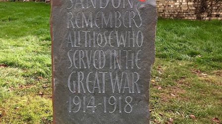 The commemorative stone that Sandon has commissioned to remember those who lost their lives in the F