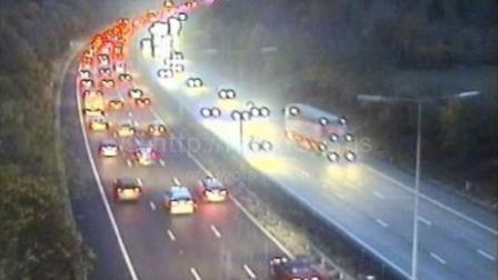 Motorists are warned of delays on the M1 in the St Albans area following a crash. Picture: Highway