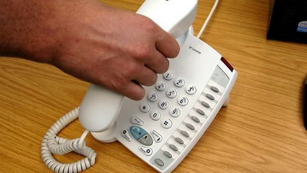 An elderly lady has been targeted by phone scammers in Royston. Picture: Daniel Wilson