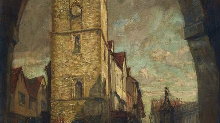 The Clock Tower, painted by Harry Mitton Wilson in winter 1918, is on display in St Albans Museum +
