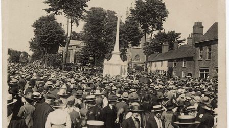 Lasting Peace - the dedication of St Peter's Street War Memorial on May 22, 1921. Picture: St Albans