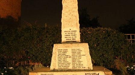 The war memorial on High Street in London Colney. Picture: Emma Payne.