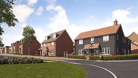 CGI of how the Oaklands Grange development in St Albans will look