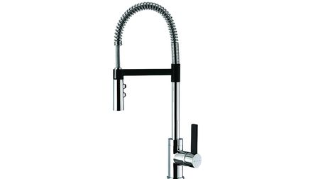 Methven's Gaston Sink Mixer tap with black accent, from RRP 345. Picture: Methven/PA