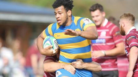 Aaron James-Nicholas scored twice for St Albans against Actonians. Picture: Karyn Haddon