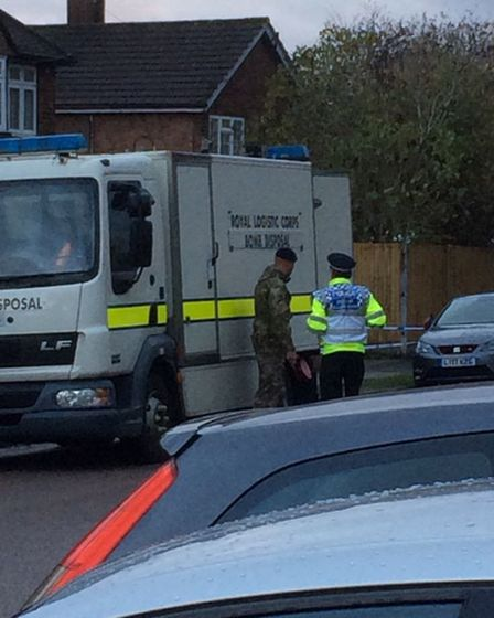 The Ministry of Defence and Herts police were called to Central Drive, St Albans after a bomb was fo