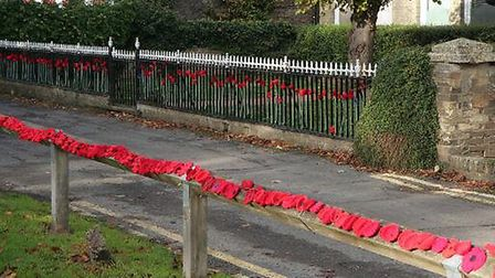 Ramsey council offices decorated to mark the centenary of the end of the Great War