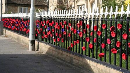Houses near Abbey Green in Ramsey decorated to mark the centenary of the end of the Great War